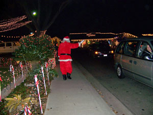 Santa at Christmas Tree Lane